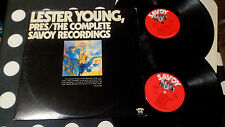 """Lester Young""""Pres/The Complete Savoy Rec..""""2LP G/F Savoy Records SJL2202 US '76"""