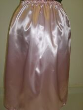 light baby pink shiny satin underskirt petticoat slip made to order any size +