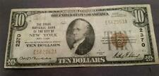 $10 1929 The Chase Bank Of New York Ny National Currency Bank Note Bill! #2370