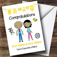Asian Mum To Be Congratulations Expecting A Baby Personalised Pregnancy Card