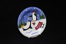 Cooks Club Blizzard Penguin Shivers Salad Plate 8-1/4""