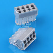 20Pcs PCT-108 Push wire wiring connector 8 pin conductor terminal block