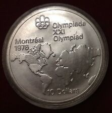 1973 $10 World Map Montreal Olympics Commemorative