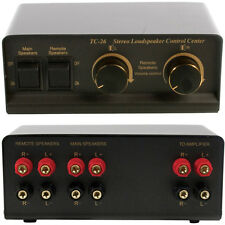 2-Way Stereo Speaker Splitter & Volume Control - HI-FI Loudspeaker Audio Switch