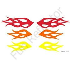 Mix Color Flames Bicycle Reflective Stickers Decals