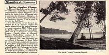 40 HOSSEGOR VUE DE L ETANG STE AMIS DU LAC IMAGE 1927 PRINT