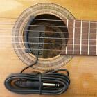 Classical or acoustic guitar sound hole ceramic pickup nylon or steel strings