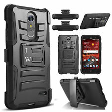 for LG LV3 / MS210 / Aristo Hybrid Shockproof Holster Clip Kickstand Case Cover
