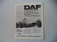 advertising Pubblicità 1965 DAF VARIOMATIC