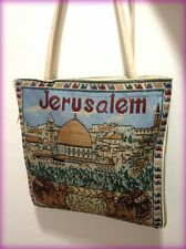 Jerusalem Camel Handmade Cotton Tote Handbag Zipper Cloth Holy Land Israel Gift