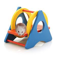 Schaukel Tunnelschaukel Nagerspielplatz Spielzeug für Nager Hamster Mäuse Holz