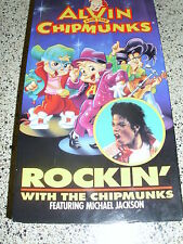 Alvin And The Chipmunks Rockin With The Chipmunks VHS OOP Michael Jackson