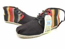 TOMS, DESERT BOTAS, ECI STRIPE, MENS, RED/ORANGE/BLACK, US 14M, EURO 47.5, NEW