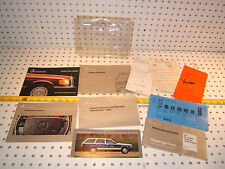 Mercedes 1990 190E 2.6 W201 owner's manual OEM 1 set of 10 Booklets & 1 Pouch