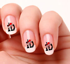 20 Nail Art Decals Transfers Stickers #299 - One Direction I Love One Direction