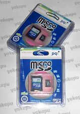 256 MB PQI micro SD-Card with SD-adapter - BNIP - new old stock