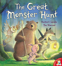 THE GREAT MONSTER HUNT Childrens Reading Picture Story Book Large Book New