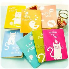 Carnet cahier Cartoon chat oiseaux type Portable Notebook Notepad (Random Color)