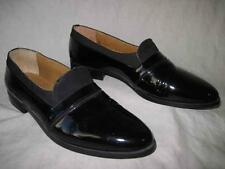 GIORGIO BRUTINI mens black patent leather loafers shoes size 9 D