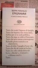Beppe Fenoglio: Epigrammi. Einaudi,  2005 libro