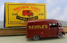 Vintage Matchbox Car- No. 69 Nestle's Van- Made in England w box