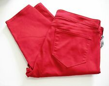 NYDJ Not Your Daughter's Jeans Womens Plus Alina Jeggings Cardinal Red Sz 18W