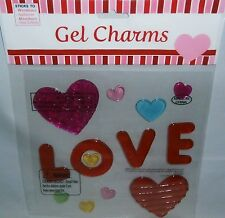 Valentines Day Window Gel COLORFUL HEARTS  LOVE