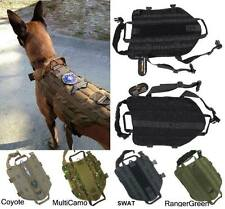 TACTICAL POLICE K9 DOG VEST HARNESS MOLLE USA MILSPEC CANINE VELCRO US MILITARY