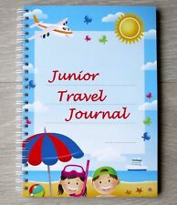 Junior Travel Journal A5 Wire Bound Kids Travel Journal for 30 Days of Travel