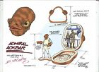 STAR WARS Admiral Ackbar +Bridge Micro Machines Play Set Color Guide E. McCarthy
