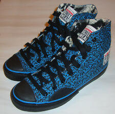 VISION STREET WEAR '80s Skateboard Shoes Blue Stipple Hi Tops 7 UK / 8 USA