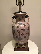 Great Ceramic Asian Style Vintage Lamp - Frederick Cooper Of Chicago Mid Century