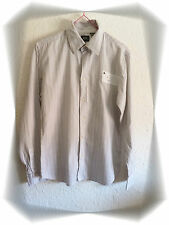 Chemise Fantaisie Rayée Blanche Marron Broderies Gris G-Star Taille L