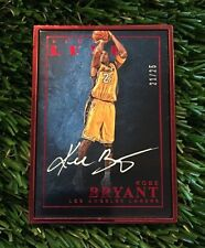 2015-16 Panini Luxe Kobe Bryant Red Metal Frame Auto Autograph #ED /25 WOW