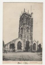 St Margarets Church Leicester 1904 Postcard 311a