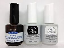 IBD Just Gel Polish Soak Off 3pc Kit - BASE + TOP + POWER BOND .5oz