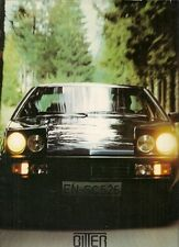 Bitter SC Coupe 1983-84 Export Markets Foldout Sales Brochure In English