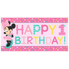 "65"" Disney Minnie Mouse Fun One 1st Birthday Party Decoration Banner"