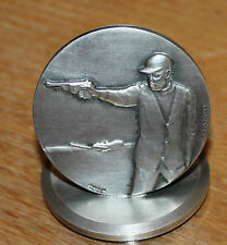 ancienne médaille de tir en métal signé contaux et marqué charma valence