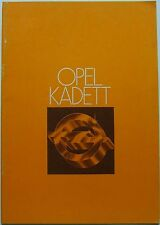 Opel Kadett C E Deluxe Special City Coupe GT/E 1977-78 Original UK Brochure