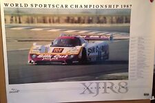 Silk Cut Jaguar Racing XJR8 World Sportscar Championship 1987 Car Poster RARE!!!