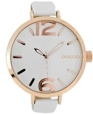 OOZOO C6627 Timepieces Women's Watch  48mm Rose Gold White Leather Strap