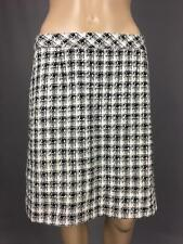 ** LAUNDRY BY SHELLI SEGAL ** Size 6 (AU 10) Black White Corporate Skirt -(A399)