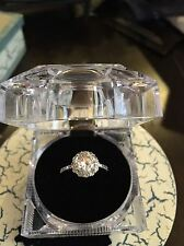 Round Cut Lab-Created White Sapphire Engagement Ring