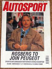 Autosport 26/7/90* DIJON SPORTSCARS - ENNA F3000 - SPA 24 Hrs  - HERBERT POSTER