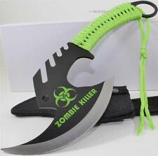 Zombie Killer Skull Splitter Throwing Axe Combat Fighter Survival Knife+Sheath