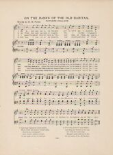 "Vintage RUTGERS UNIVERSITY song sheet ""ON THE BANKS OF THE OLD RARITAN"" NJ"