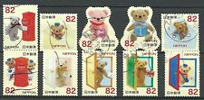 ˳˳ ҉ ˳˳G91 Japan Greeting Teddy Bear 2014 used complete set manga Japon 日本