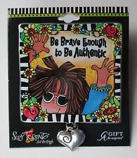 s Be brave enough to be authentic SUZY TORONTO CAR VISOR CLIP decoration