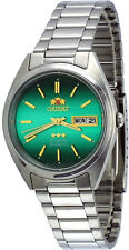 Orient FAB00007F Men's 3 Star Stainless Steel Green Dial Date Automatic Watch